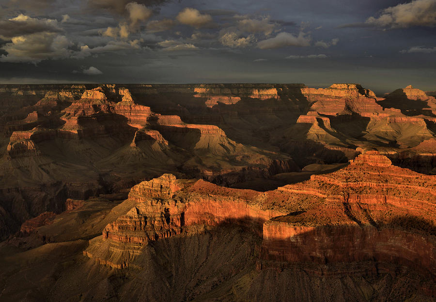 Grand Canyon Photograph - Stormy Sunset by Stephen  Vecchiotti