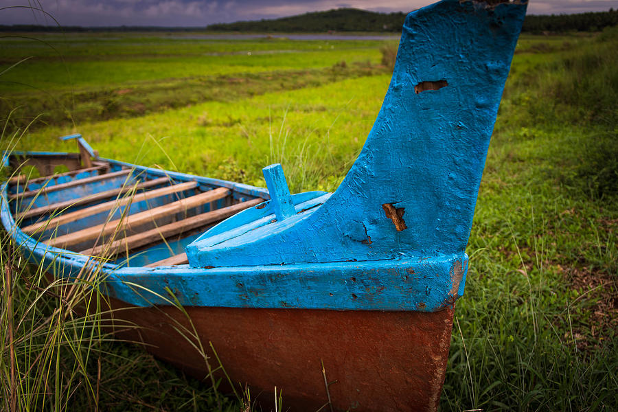 Nature Photograph - Story Of A Boat by Sunman Studios