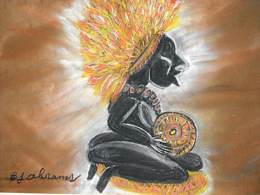 Ethnic Painting - Story Teller by BJ Abrams