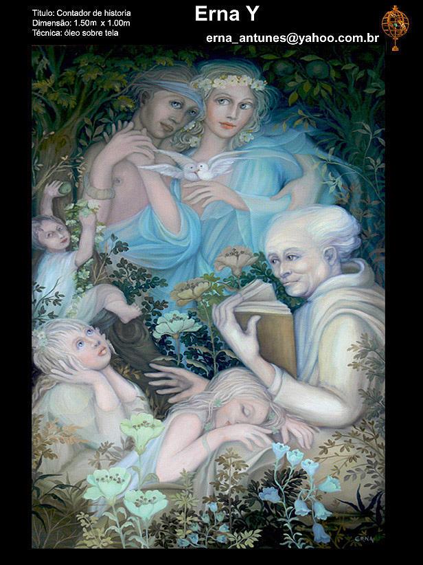 Storyteller Painting by Erna Y