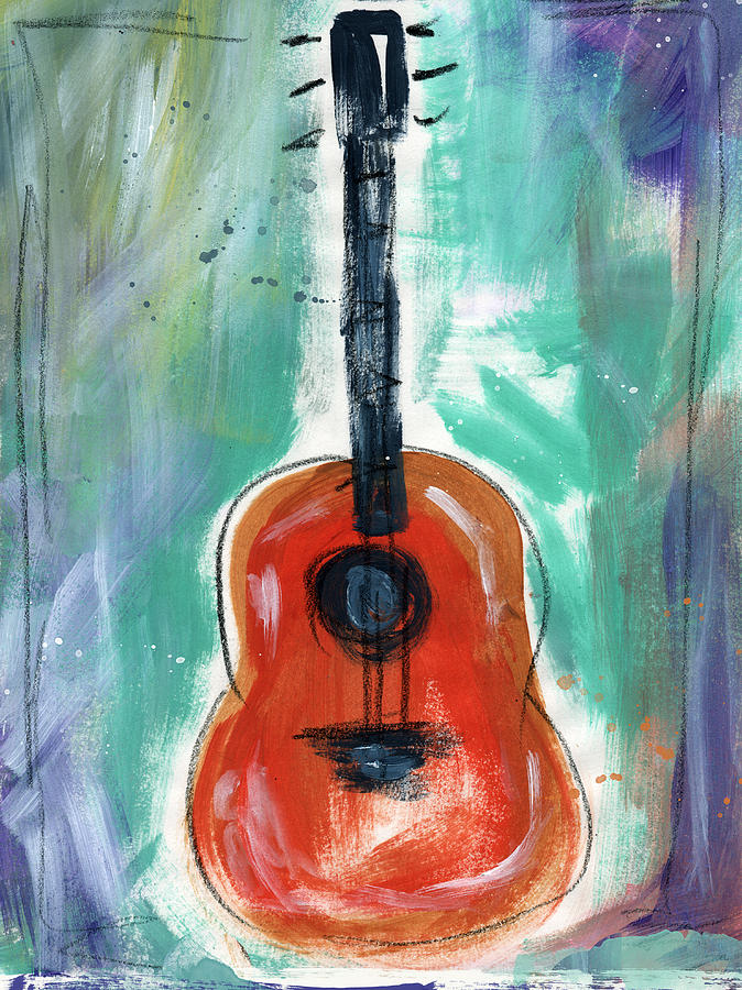 Guitar Painting - Storytellers Guitar by Linda Woods