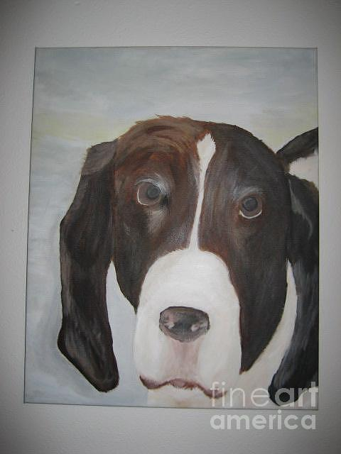 Dog Painting - Stosh by Max  Chaney