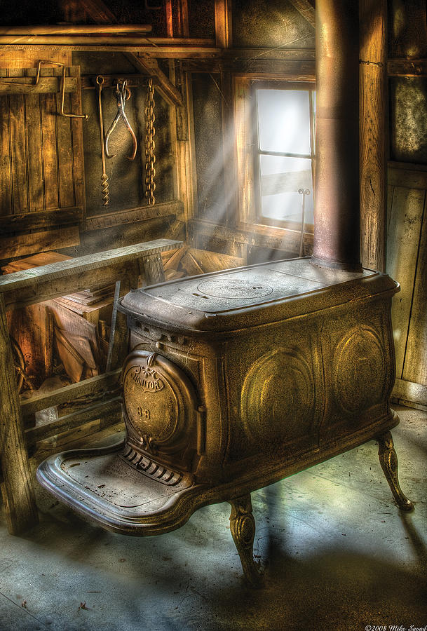 Savad Photograph - Stove - A Warm Cozy Stove by Mike Savad