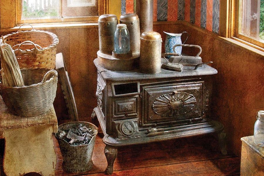 Savad Photograph - Stove - Remember The Good Ol Days When  by Mike Savad