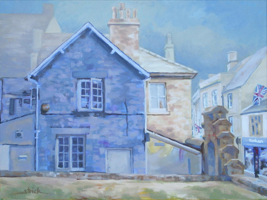 Cottage Painting - Stow on the Wold by Carol Strickland