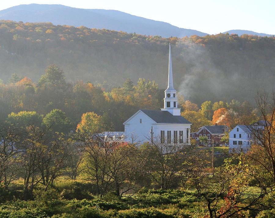 Stowe Community Church Vermont Photograph