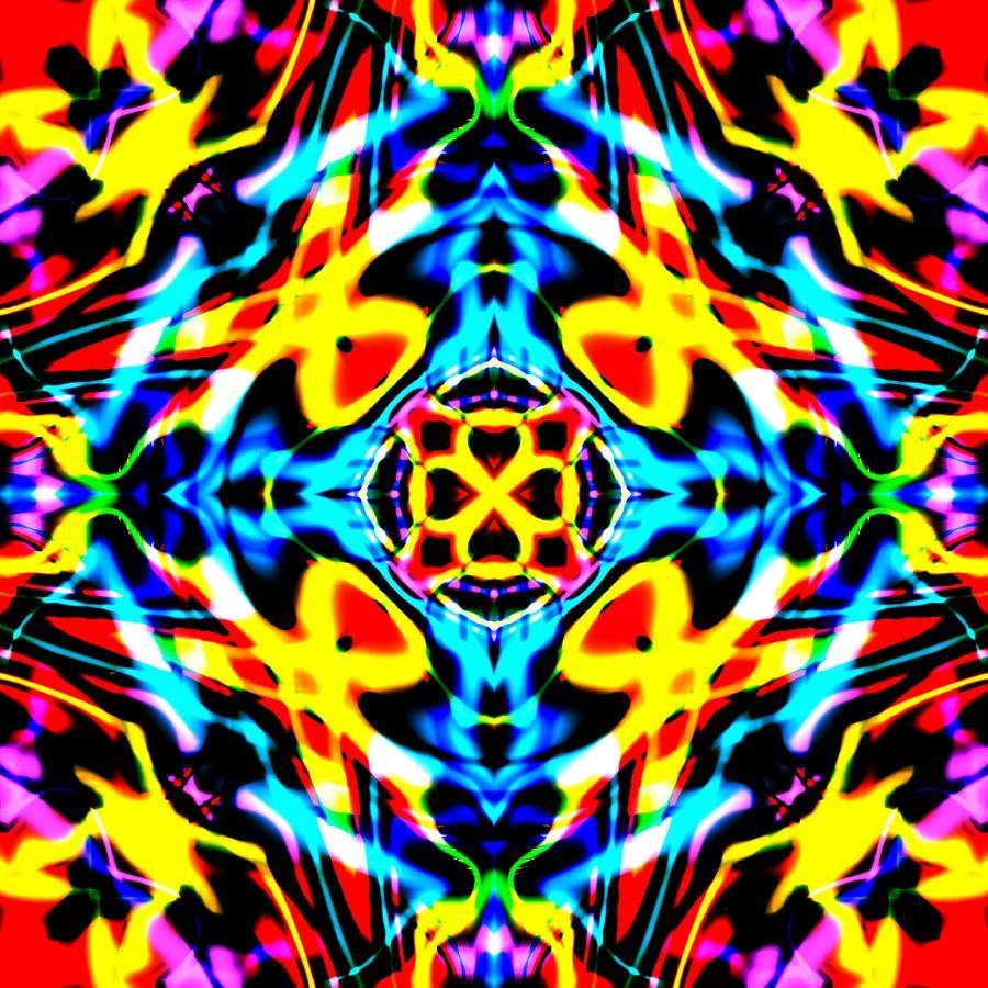 Red Digital Art - Strabe by Blind Ape Art