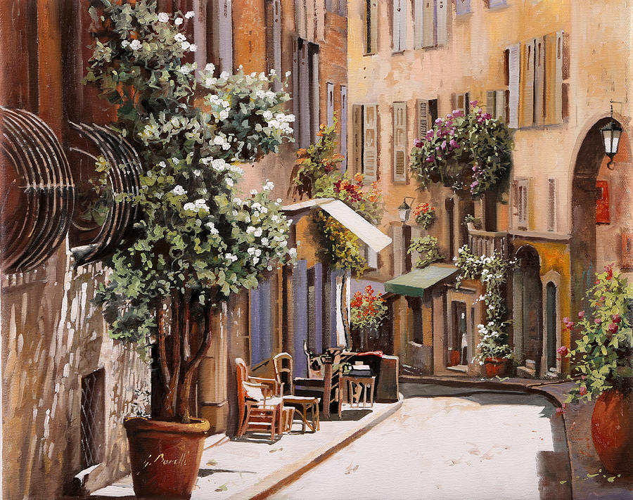 Grasse Painting - stradina di Grasse by Guido Borelli