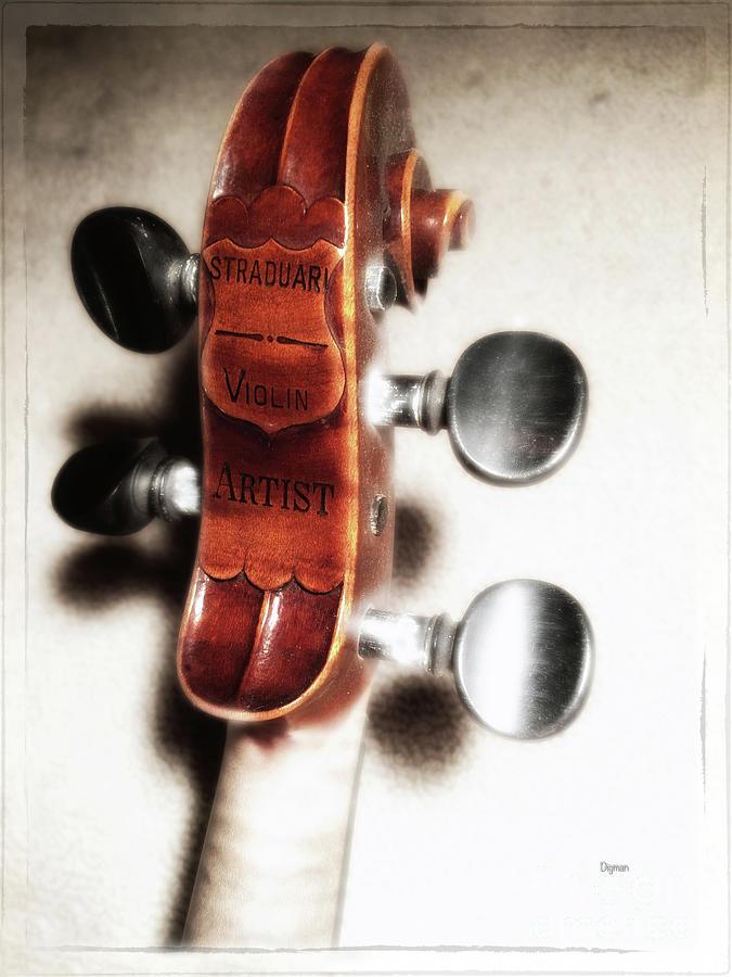 Violin Photograph - Straduari  by Steven Digman