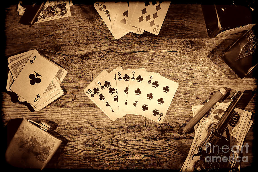 Straight Flush by American West Legend By Olivier Le Queinec