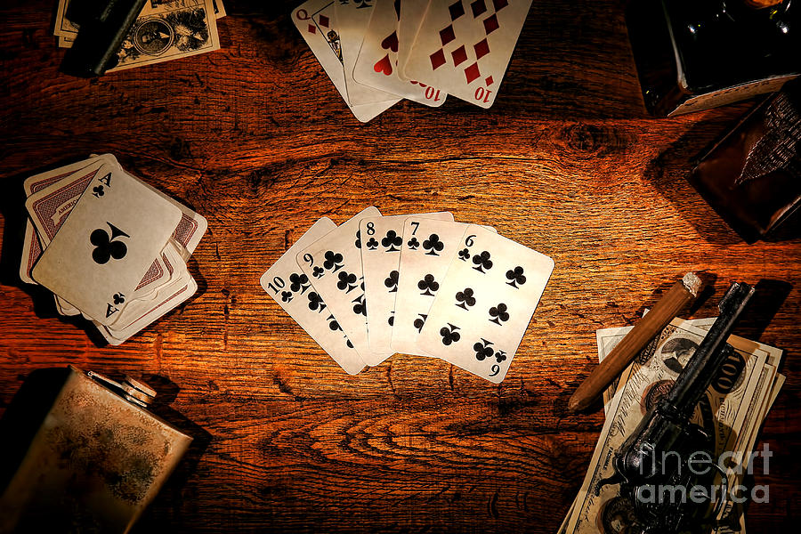 Western Photograph - Straight Flush by Olivier Le Queinec