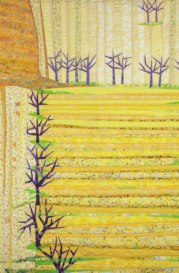Landscape Tapestry - Textile - Straight Furrows by Linda Beach