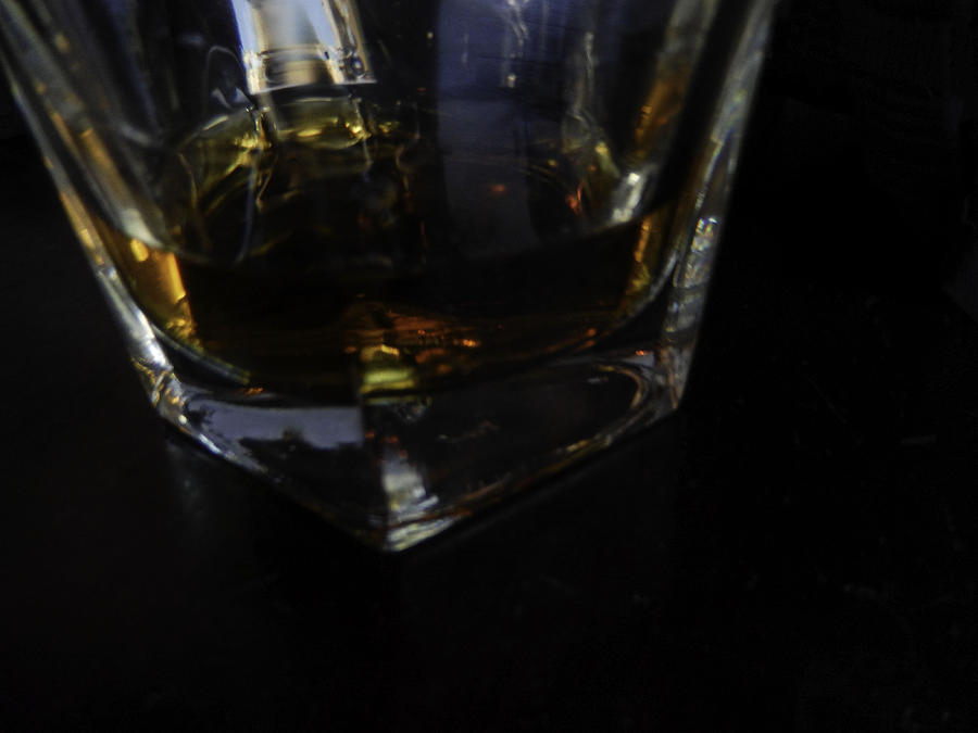 Whiskey Photograph - Straight Up by Kelly E Schultz