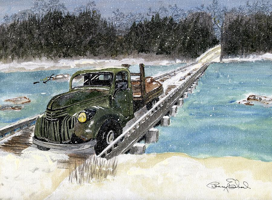 Landscape Painting - Stranded On Rockford Bridge by Penny Everhart