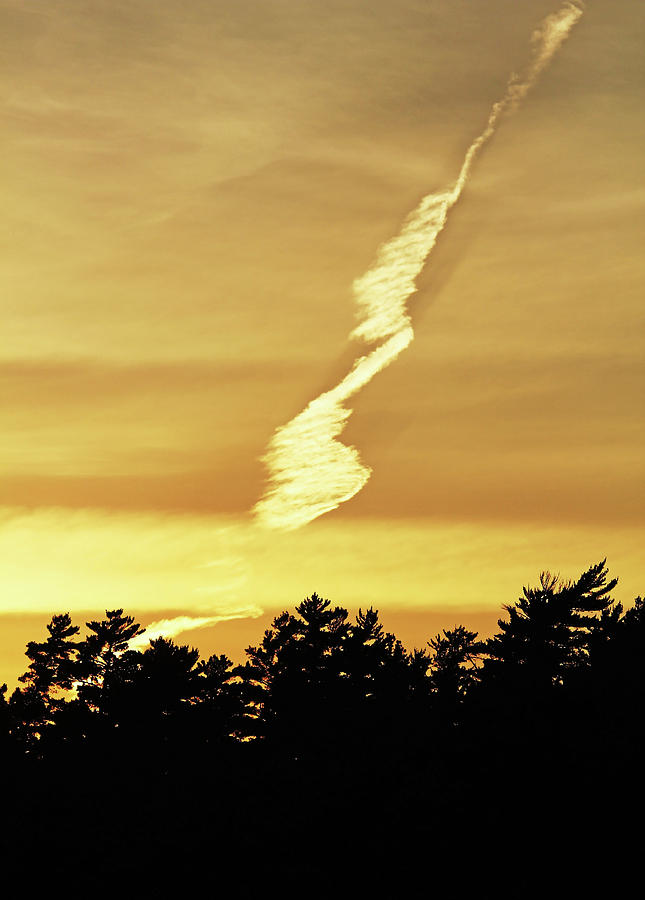 Sunset Photograph - Strange Clouds At Sunset I by Debbie Oppermann