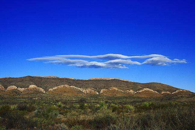 Nature Photograph - Strange Clouds- West Texas by Kelley Swinney