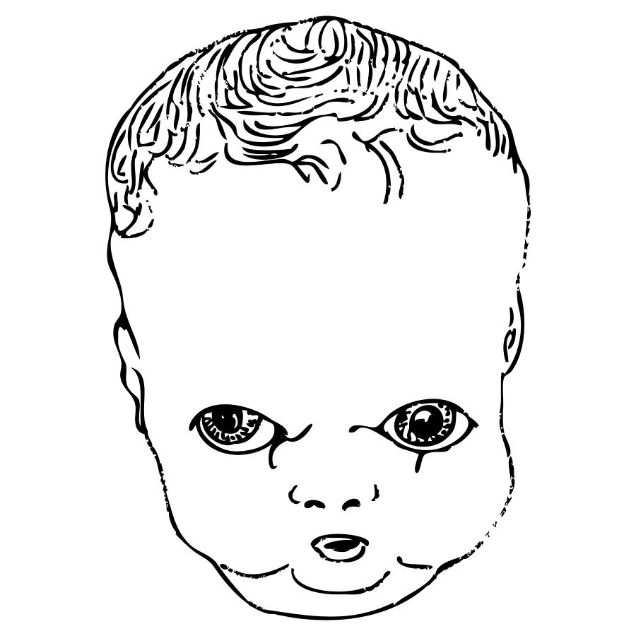 Strange Doll Baby Drawing By Karl Addison