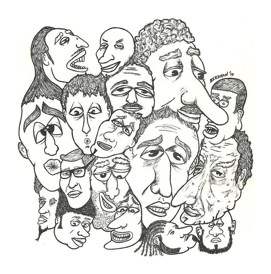 strange faces no 1 drawing by steve weber
