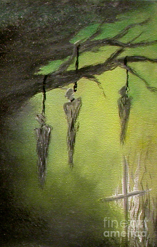 Branches Painting - Strange Fruit by Alys Caviness-Gober