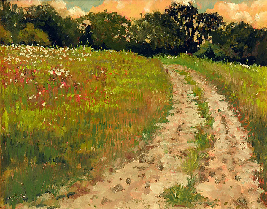 Plein Air Painting - Strange Places and Lonely Roads by Anthony Sell