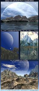 Planets Digital Art - Strange Unearthly Views by Graham Conrad