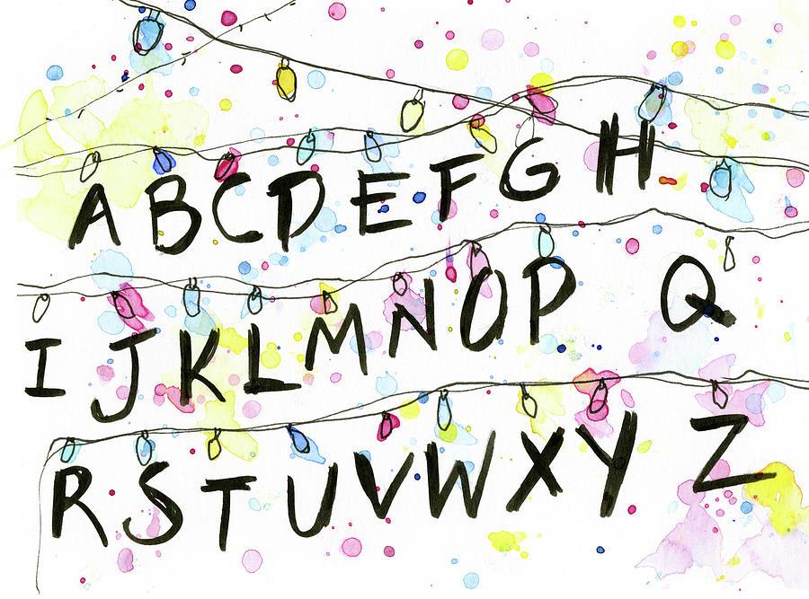 Stranger Things Christmas Lights.Stranger Things Alphabet Wall Christmas Lights