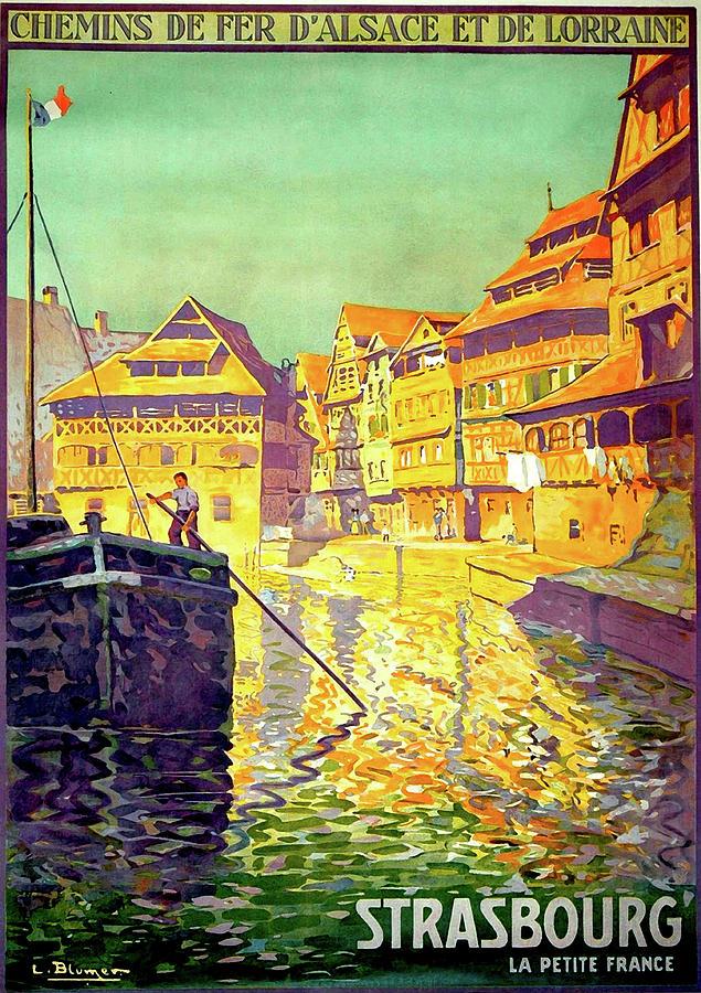 Strasbourg Painting - Strasbourg, City, France, Travel Poster by Long Shot