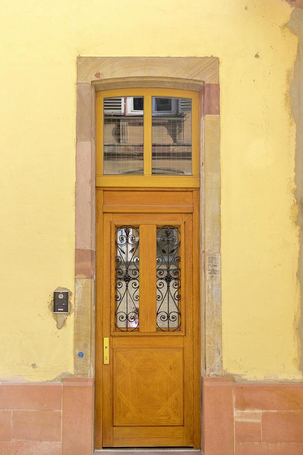 Alsace Photograph - Strasbourg Door 03 by Teresa Mucha