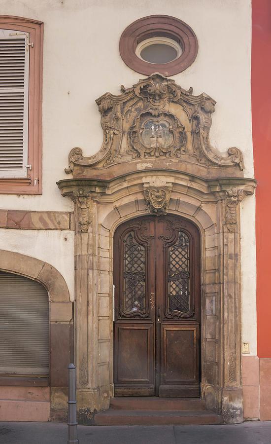 Alsace Photograph - Strasbourg Door 09 by Teresa Mucha