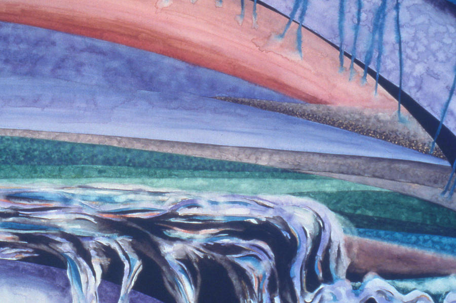 Watercolor Painting - Strata - 5 by Caron Sloan Zuger