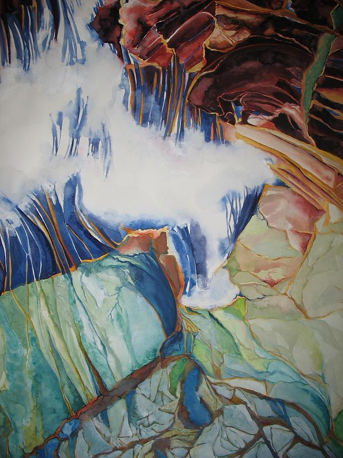 Watercolor Painting - Strata - 8 by Caron Sloan Zuger