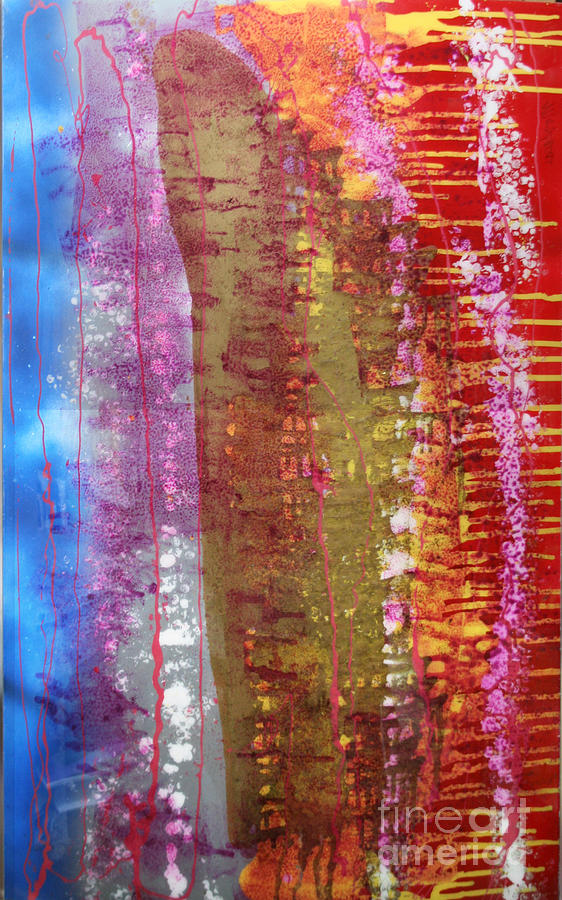 Abstract Painting - Strata by Mordecai Colodner