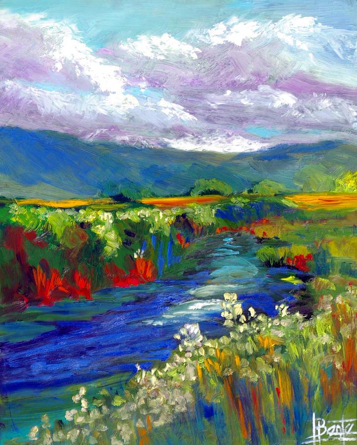 Prairie Painting - Strata Plein Air by Bente Hansen