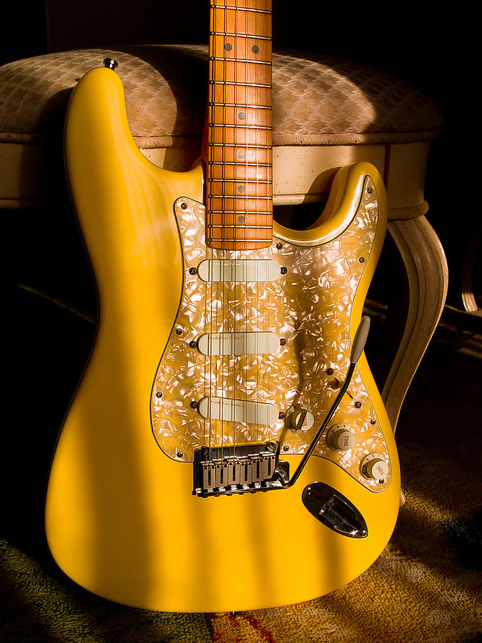 Stratocaster Plus In Graffiti Yellow by Guitar Wacky