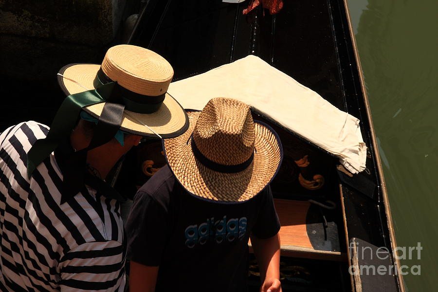 Venice Photograph - Straw Hats in Venice by Michael Henderson