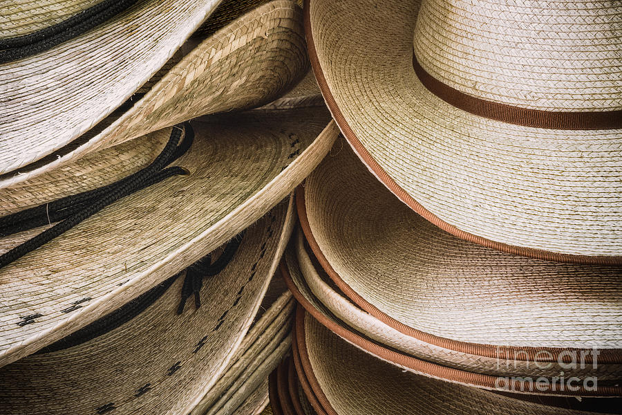 Artwork Photograph - Straw Hats by Jerry Fornarotto