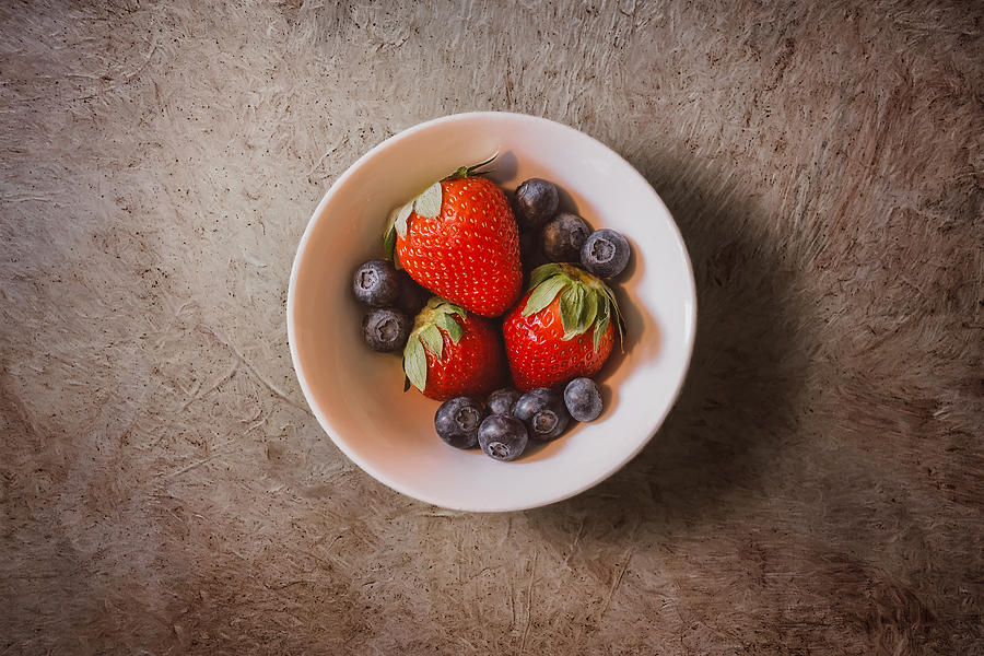 Strawberries Photograph - Strawberries and Blueberries by Scott Norris