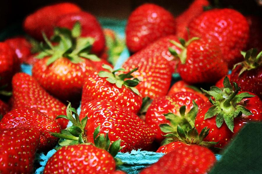 Strawberries Photograph - Strawberries by Cathie Tyler