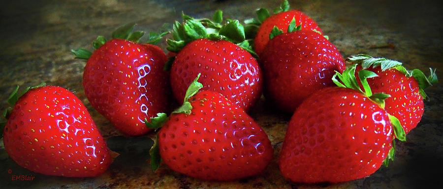 Fruit Photograph - Strawberries by Eileen Blair