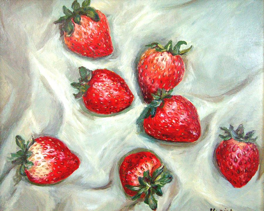 Still Life Painting - Strawberries  by Jeannette Ulrich