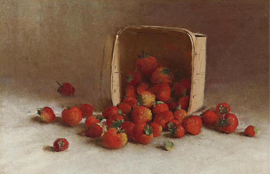 Strawberries Painting - Strawberries by Joseph Decker