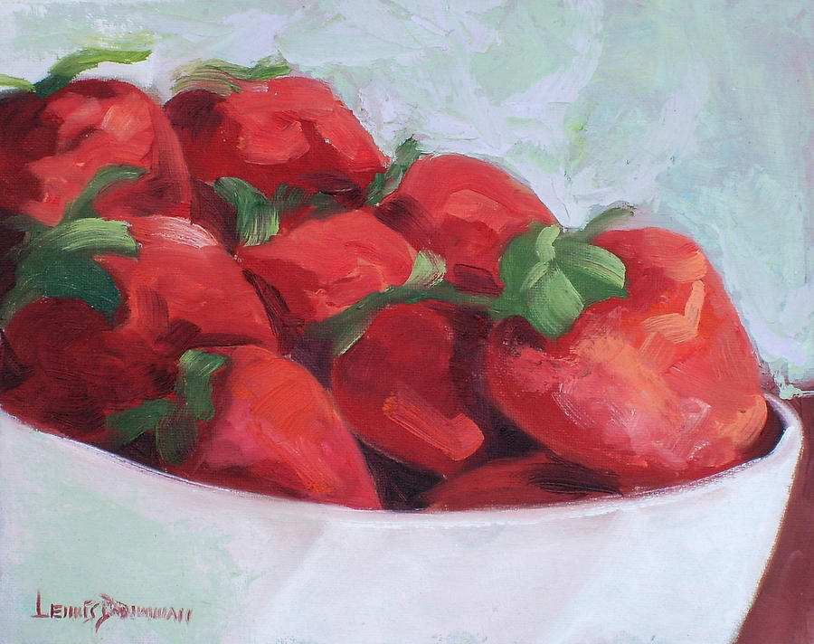 Strawberries Painting - Strawberries by Lewis Bowman