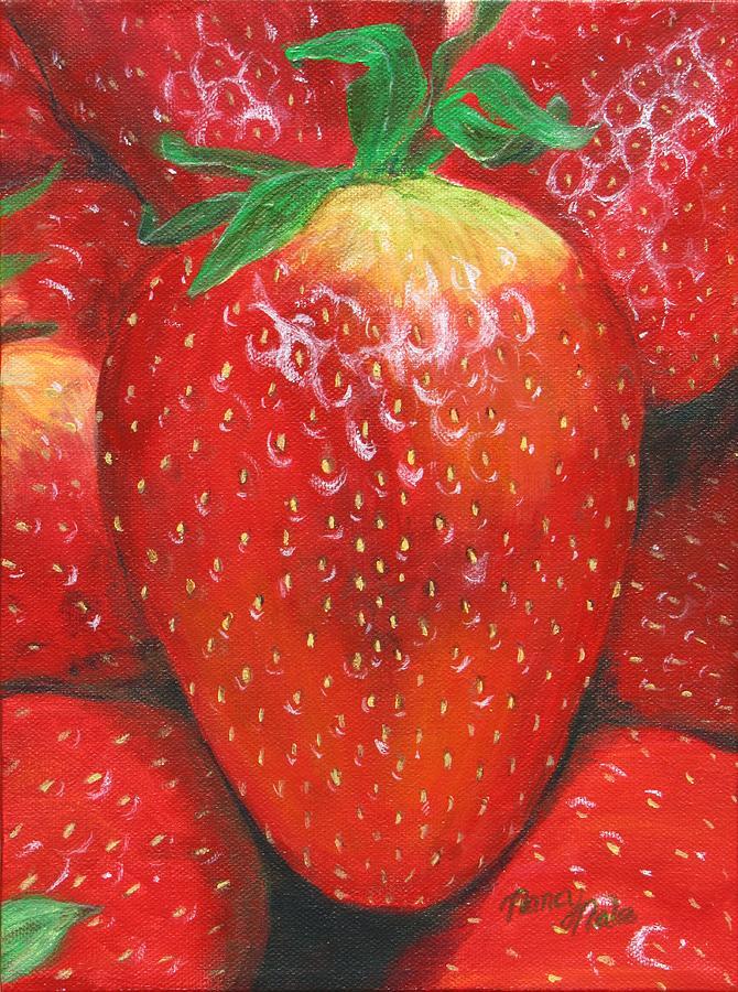 Strawberries Painting - Strawberries by Nancy Nale