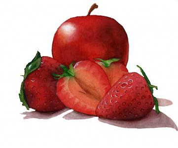 Jelly Painting - Strawberry Apple by Israel Reza