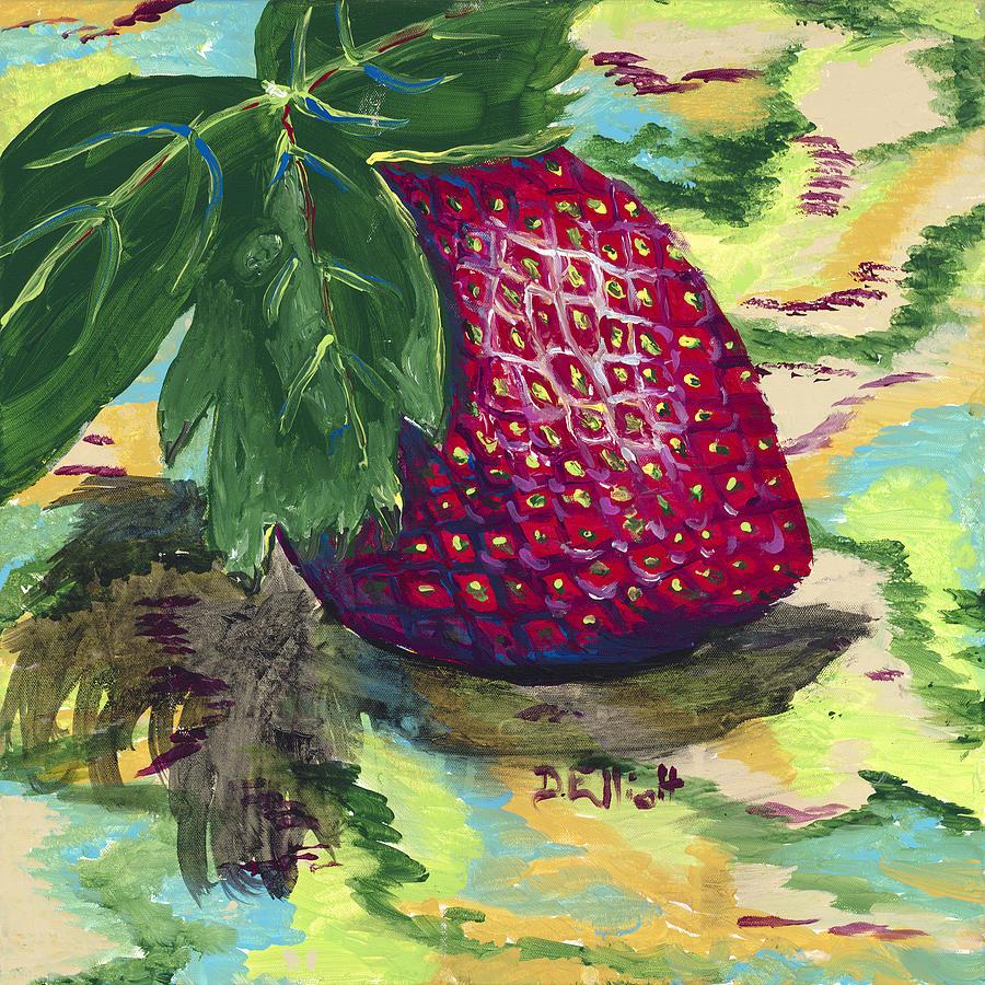 Strawberry Painting - Strawberry by Davis Elliott