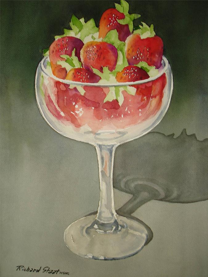 Still Life Painting - Strawberry Delight by Richard Staat