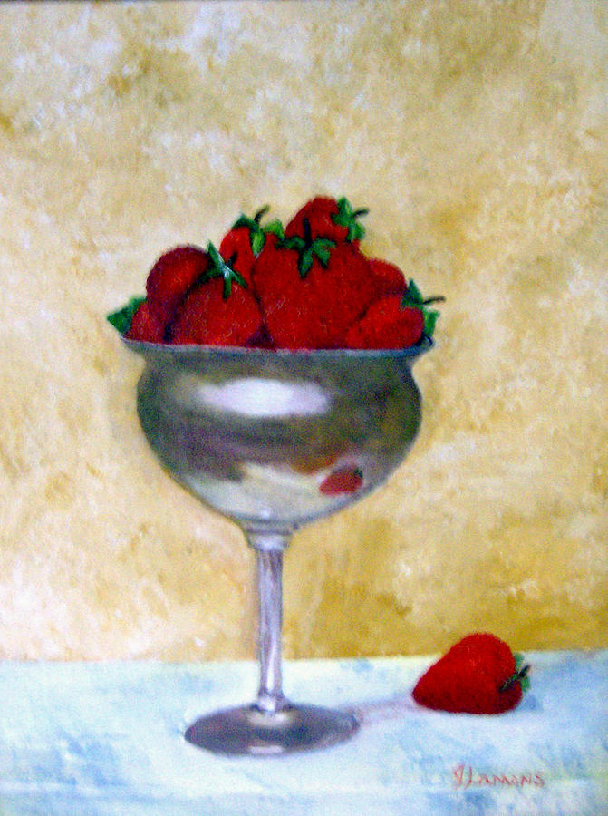 Still Life Painting - Strawberry Feast by Julie Lamons