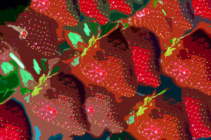Strawberry Painting - Strawberry Fields Forever by David Lee Thompson
