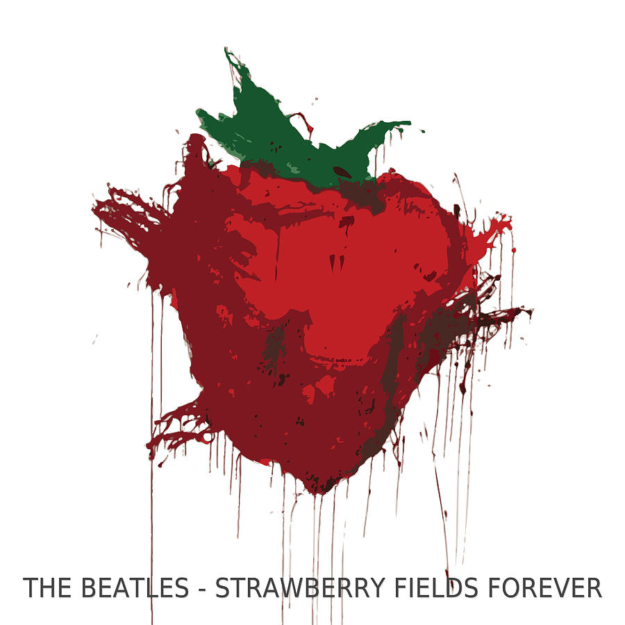 Strawberry Digital Art - Strawberry Fields Forever  by Koichi Endo