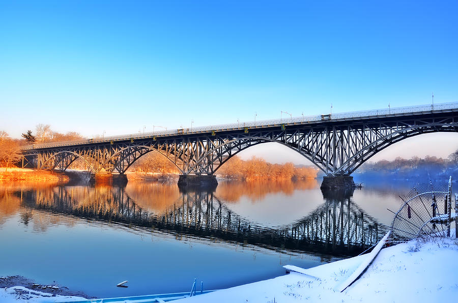 Strawberry Mansion Photograph - Strawberry Mansion Bridge  by Bill Cannon